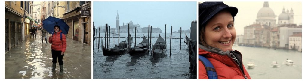 Winter in flooded Venice by J.F.Penn