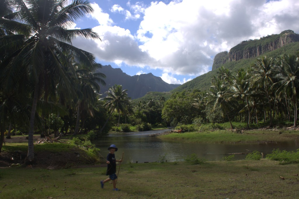 Nuku Hiva: Daniel's Bay waterfall hike. Photo by Nadine Slavinski