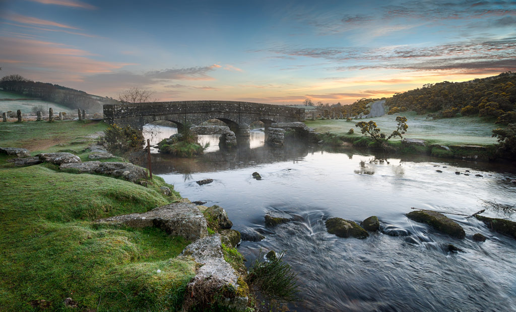 Bellever Bridge on Dartmoor National Park in Devon, England. Photo licensed from BigStockPhoto